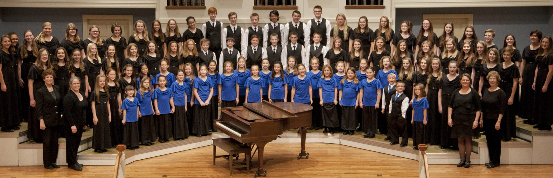 Encore Youth Choir with Directors Kim Scherrer (2008-2015), Ann Tucker (current) and accompanists JoAnn Black (2006-2018) and Beverly Taylor (2006-2016)
