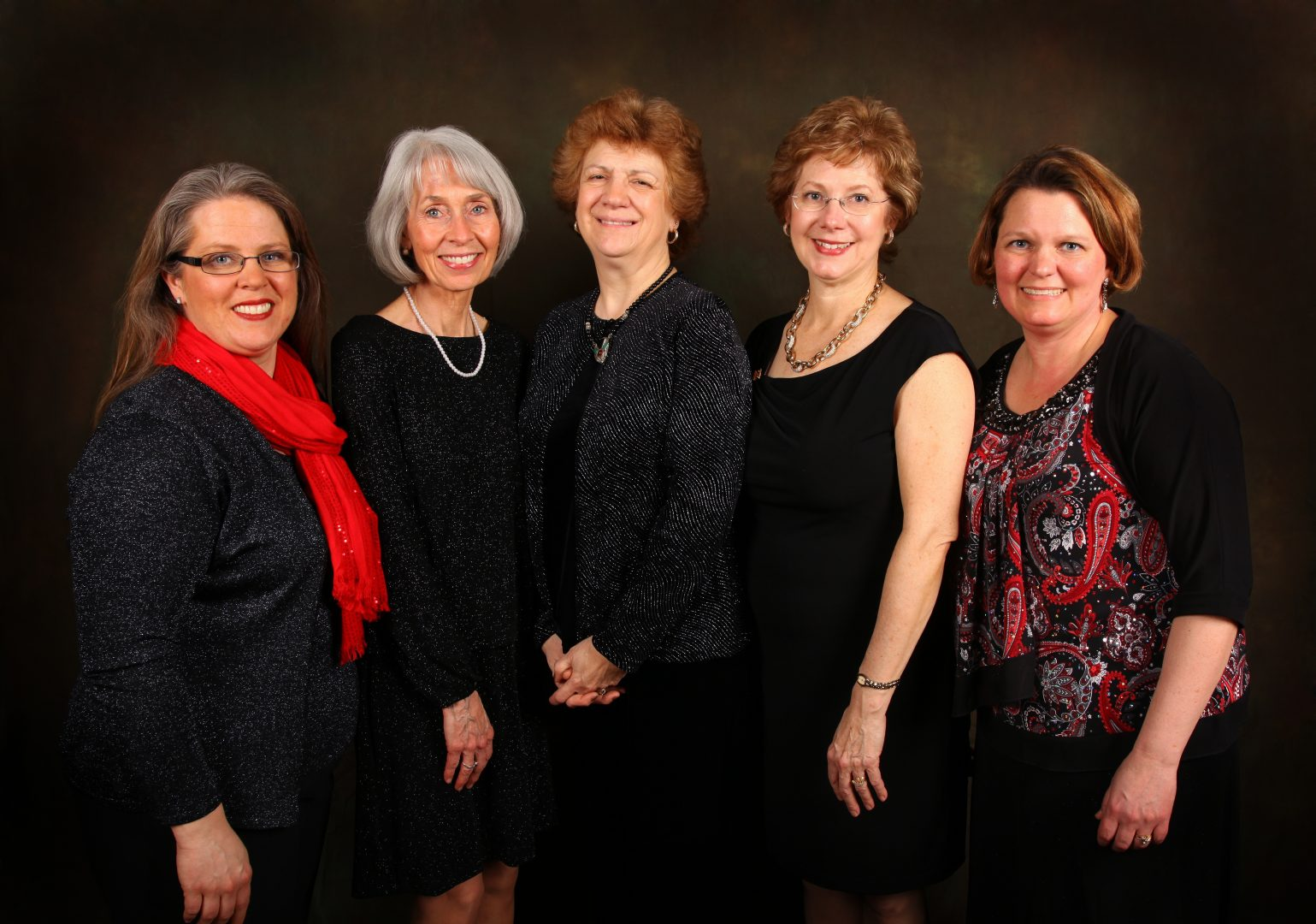 EYC Artistic Staff (2008-2014) from left Ann Tucker, Karen Snodgrass, JoAnn Black, Beverly Taylor, Kim Scherrer