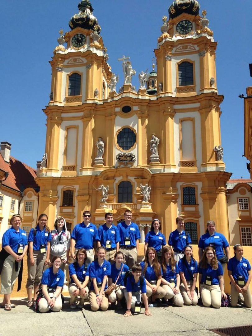 Encore Touring Choir at Melk Abbey in Austria 2014