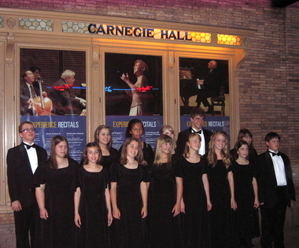 Encore Touring Choir at Carnegie Hall, New York City 2009
